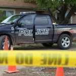 Police respond to the shooting in Parowan, Utah, July 10, 2014 | Photo by Corey McNeil, St. George News