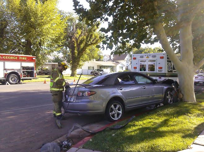 The aftermath of the accident that occurred in the intersection of 200 West and 100 South in St. George, Utah, Sept. 17, 2014   Photo by Aspen Stoddard, St. George News