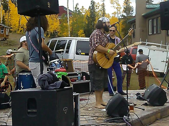 Jensen Buck and the Family play music at the R'Oktoberfest held at Giant Steps Lodge in Brian Head, Utah, Sept. 20, 2014 | Photo by Aspen Stoddard, St. George News