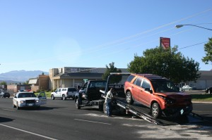 Accident at 1100 W. Sunset Blvd., St. George, Utah, Oct. 14, 2014 | Photo by Cami Cox Jim, St. George News
