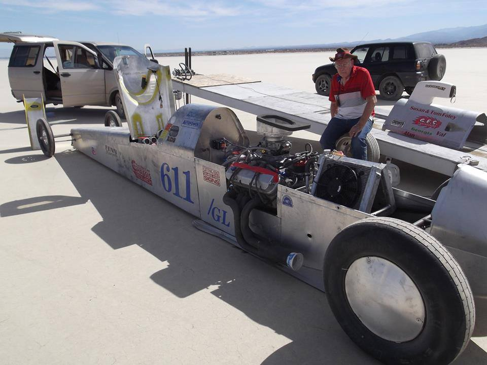 Robert Brissette's father, Bob Brissette, at El Mirage Dry Lakes Meet, California, Oct. 19, 2014 | Photo courtesy of Robert Brissette, St. George News