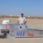Robert Brissette at El Mirage Dry Lakes Meet, California, Oct. 19, 2014 | Photo courtesy of Robert Brissette, St. George News