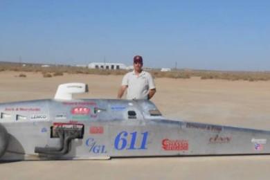Robert Brissette at El Mirage Dry Lakes Meet, California, Oct. 19, 2014 | Photo courtesy of Robert Brissette, St. George News