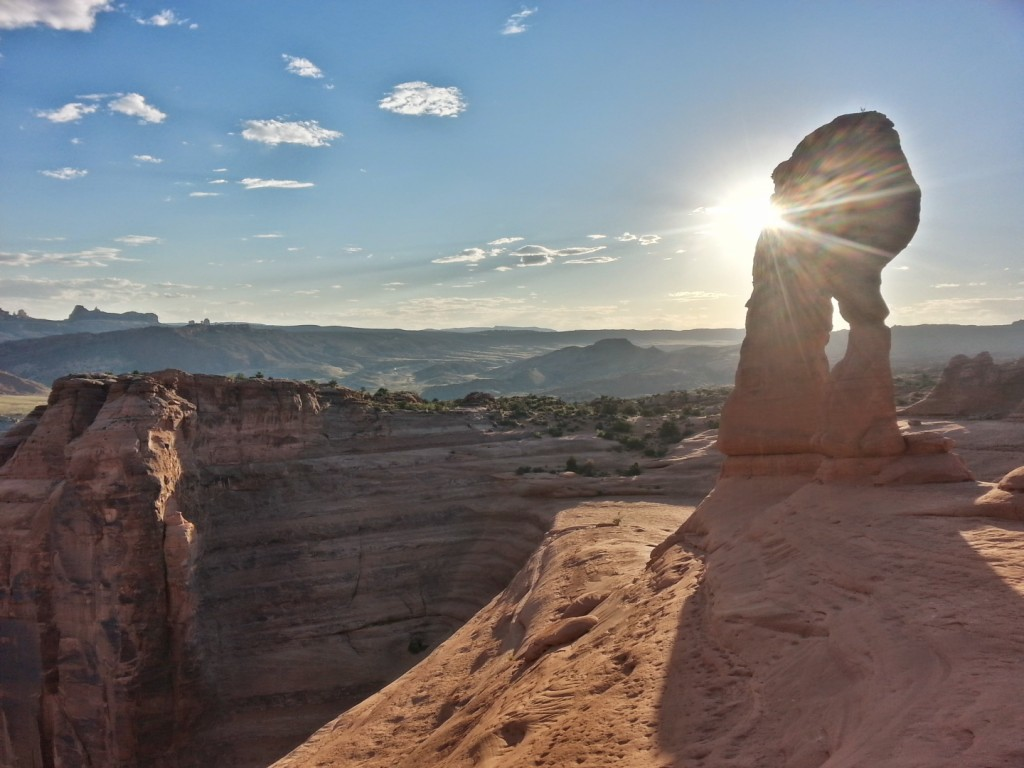 The sun interacting with the Delicate Arch, Arches National Park, Utah, Sept. 14, 2014 | Photo by Drew Allred, St. George News