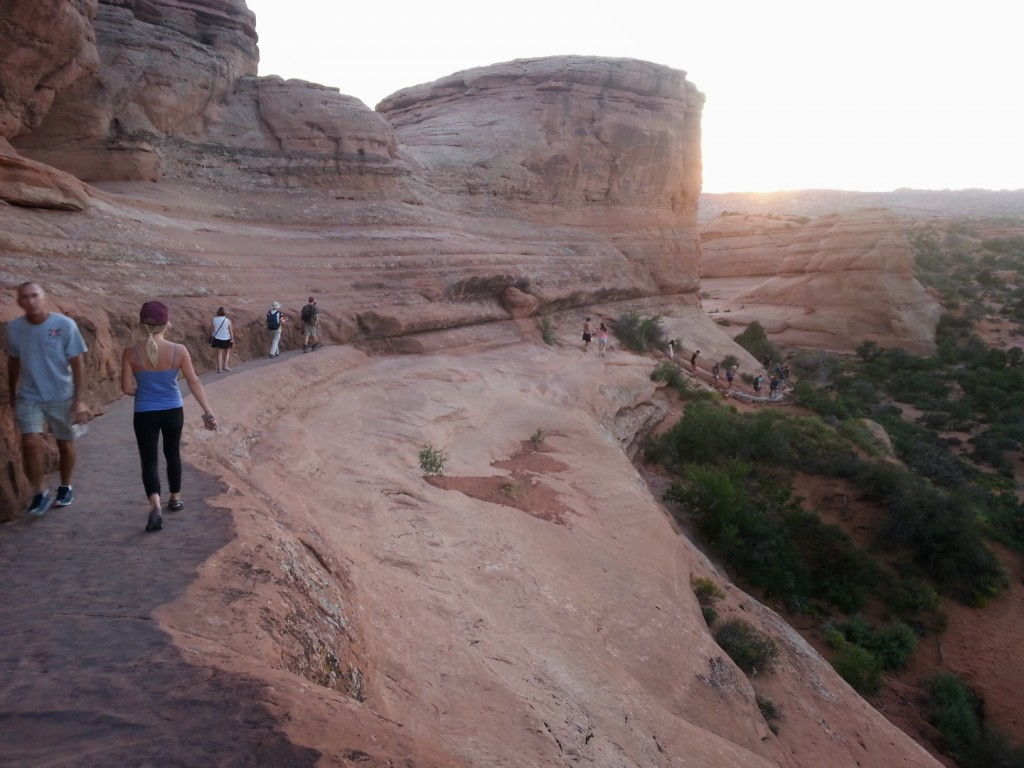 Hiking back from the Delicate Arch, Arches National Park, Utah, Sept. 14, 2014   Photo by Drew Allred, St. George News