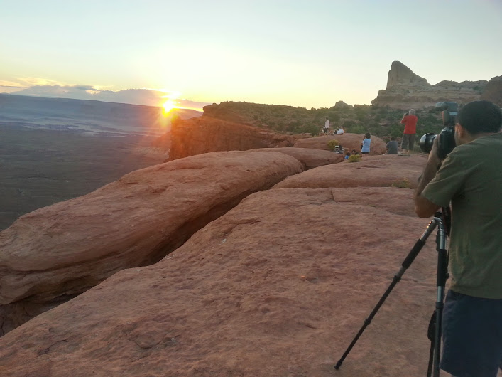 Snapping shots from the Green River Overlook, Canyonlands National Park, Utah, Sept. 15, 2014 | Photo by Drew Allred, St. George News