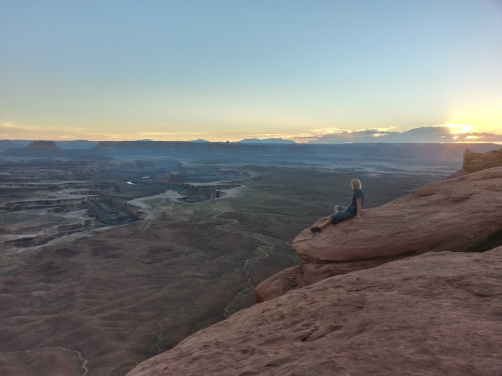 Enjoying the view from the Green River Overlook, Canyonlands National Park, Utah, Sept. 15, 2014   Photo by Tami Thomas, St. George News