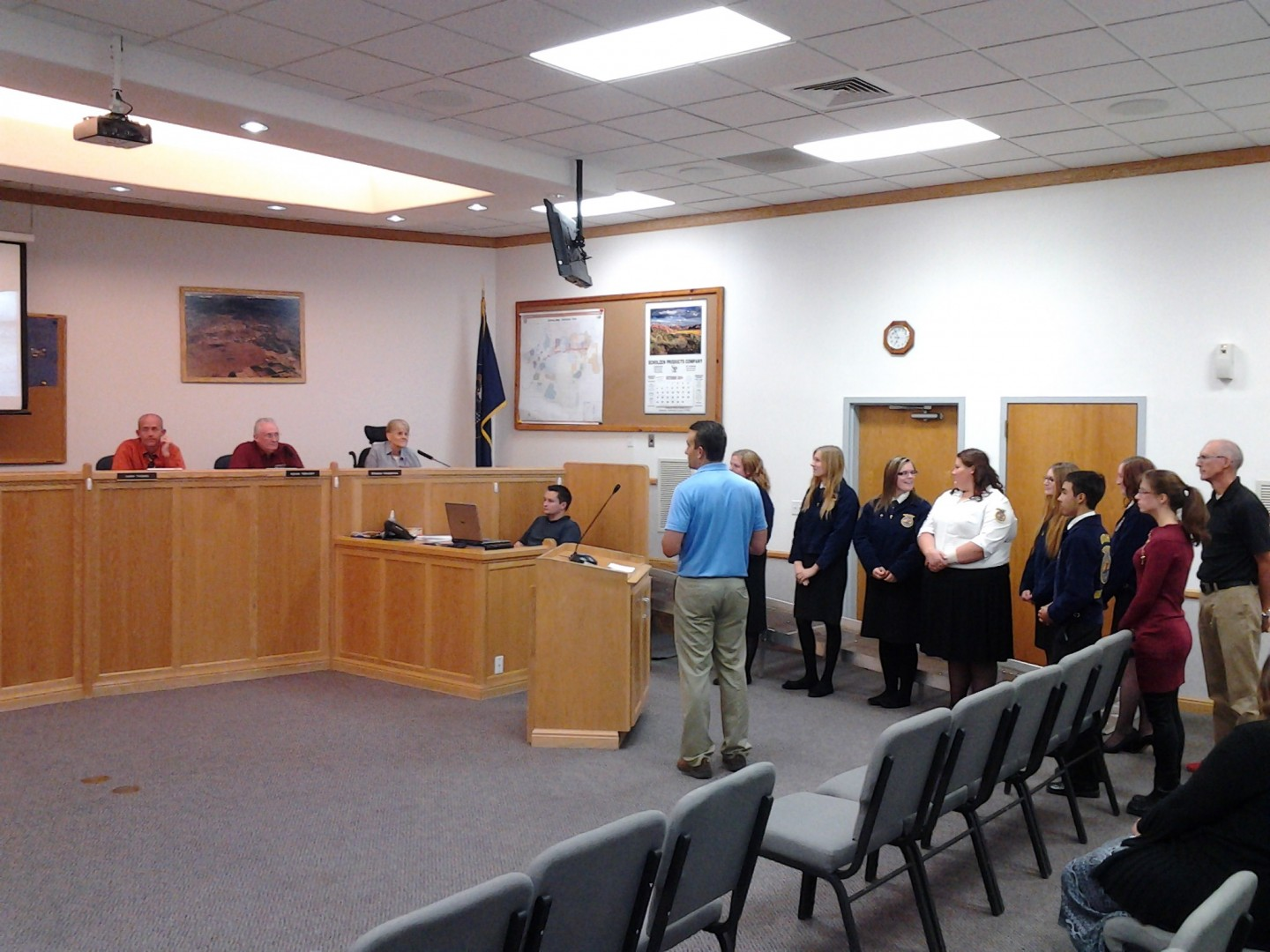 Hurricane High School FFA members present to the City Council about the community garden, Hurricane City Council Chambers, Hurricane, Utah, Oct. 2, 2014 | Photo by Reuben Wadsworth, St. George News