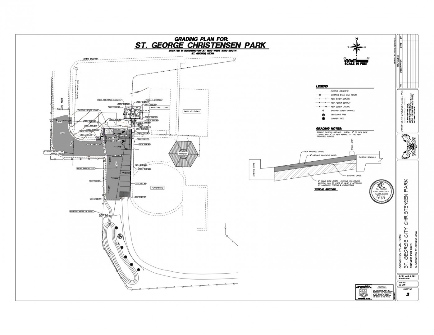 Blueprint of Bloomington Park renovations, Bloomington, Utah, October 2014 | Image courtesy of the City of St. George, St. George News