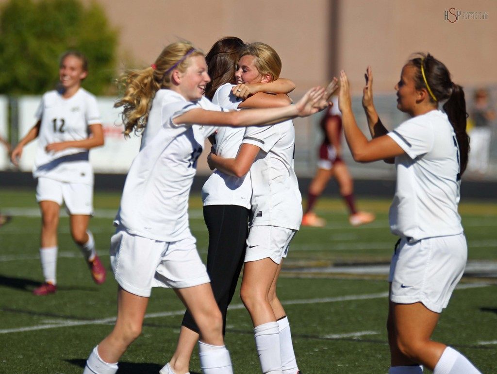 Desert Hills vs. Morgan, Girls 3A State Soccer Playoffs, St. George, Utah, Oct. 15, 2014 | Photo by Robert Hoppie, ASPpix.com, St. George News