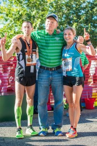 Aaron Metler and Amber Green of St. George took first-place in male and female categories, St. George, Utah, October 4, 2014 | Photo by Dave Amodt, St. George News