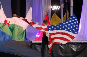 Flags of the countries represented at the Hunstman World Senior Games are presented at the opening ceremonies, St. George, Utah, Oct. 7, 2014 | Photo by Hollie Reina, St. George News