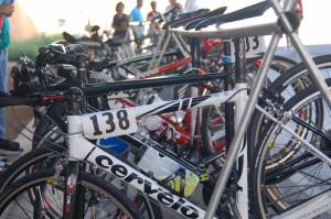 Bikes are hung on a rack at the cycling competition of the Hunstman World Senior Games, St. George, Utah, Oct. 8, 2014 | Photo by Hollie Reina, St. George News