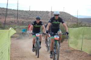 Racers take off on the cross country course at the first ever Fall Fury mountain bike race, St. George, Utah, Oct. 18, 2014 | Photo by Hollie Reina, St. George News