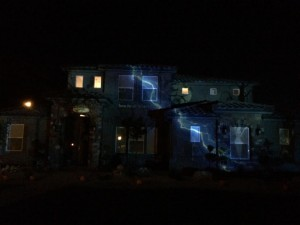 A spooky and creative projection system turns the home of Brent Martin into a Halloween spectacle for the whole community to enjoy, Washington City, Utah, Oct. 23, 2014 | Photo courtesy of Brent Martin, St. George News