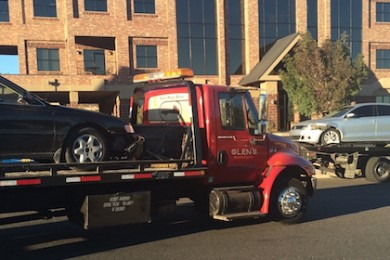 Both vehicles in a 2-vehicle collision on River Road were towed, St. George, Utah, Oct. 29, 2014 | Photo by Brett Brostrom, St. George news