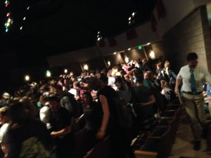 About 1,000 Hurricane High School students gather in an assembly about pornography addiction, Hurricane, Utah, Sept. 30, 2014 | Photo by Holly Coombs, St. George News