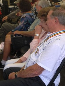Korean War Veteran Edward Barberis sits with his wife, Ruth at the a presentation of the South Korean Ambassador for Peace Medal to Utah Korean War Veterans, Ivins, Utah, Oct. 16, 2014 | Photo by Holly Coombs, St. George News
