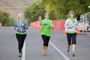 Mayor's Walk participants preparing to cross the finish line, St. George, Utah, October 4, 2014   Photo by Samantha Tommer, St. George News