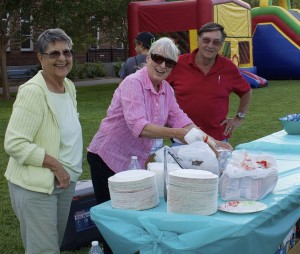 Volunteers set up for the BBQ, Steps for Hope, St. George, Utah, October 9, 2014 | Photo by Rhonda Tommer, St. George News