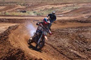 Jackson Glathar makes a quick turn during a practice run at the SGMX track in St. George on Oct. 5, 2014 | Photo by Devan Chavez, St. George News