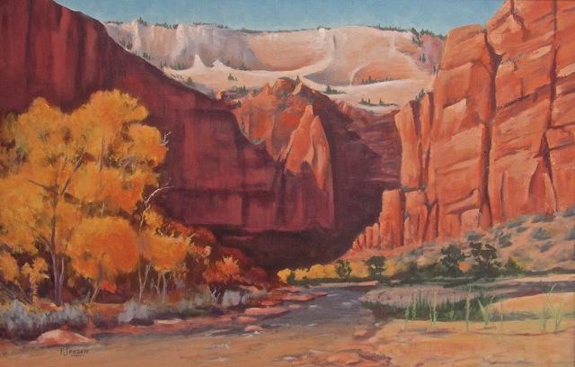 """""""Landscape"""" oil painting by Paul Jensen, Southern Utah 