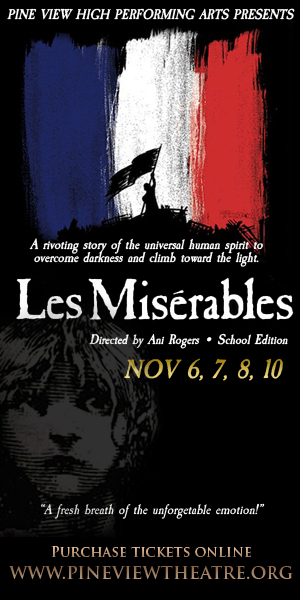Production poster for Les Misérables | Image courtesy of Kevin Lewis, Pine View High School, St. George News