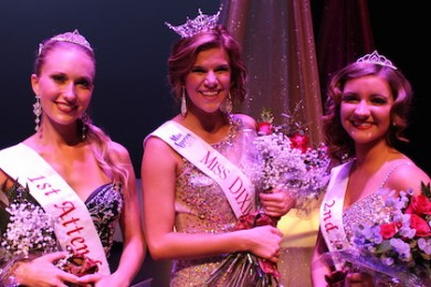 Sarah Thompson, Miss Dixie, Jessica Jensen, 1st runner up, and Jaylin Humphries, 2nd runner up, Miss Dixie pageant, Dixie State University, St. George, Utah, Oct. 21, 2014 | Photo courtesy of John Holfeltz and Izak Amargo, St. George News