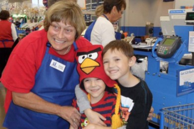 Operation School Bell takes children to Wal-Mart in Hurricane, Utah, Fall 2013 | Photo courtesy of Beverly Sands, St. George News