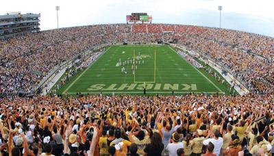 BYU is visiting UCF's BGright House Network Stadium tonight. | Photo courtesy UCF Athletics