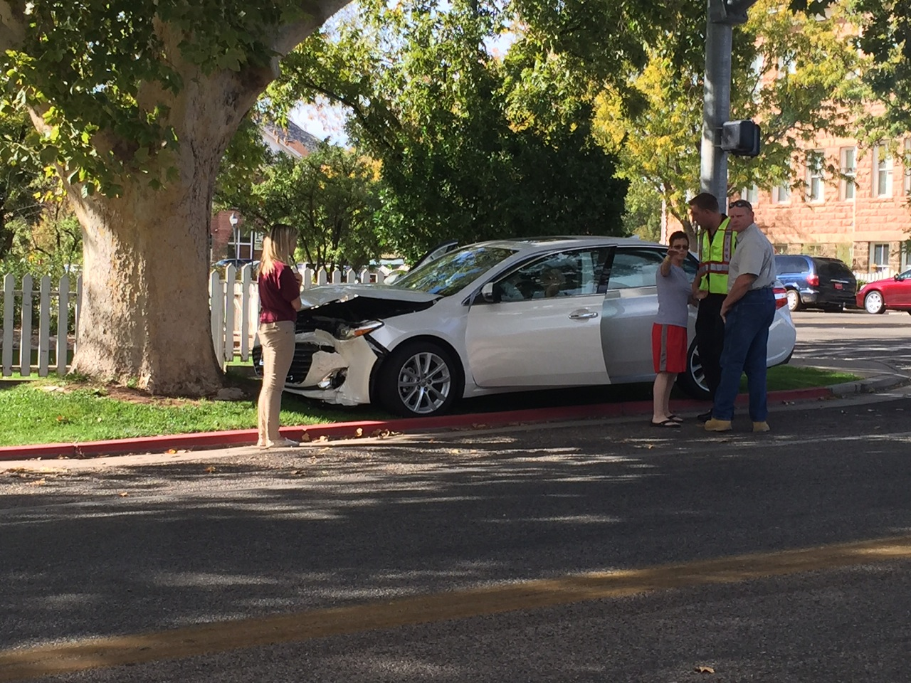 Aftermath of a two-car collision at Main Street and 100 South, St. George, Utah, Oct. 21, 2014   Photos courtesy of Corbin Wade, St. George News