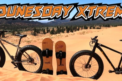 Fat bikes and sand boards, Kane County, Utah, 2014 | Photo courtesy of Kane County, St. George News