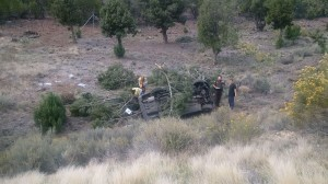Fatal crash on I-15 near Leeds, Utah, Oct. 9, 2014 | Photo courtesy of Utah Highway Patrol, St. George News