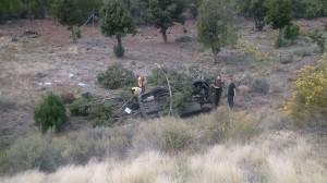 Fatal crash on I-15 near Leeds, Utah, Oct. 9, 2014 | Photo courtesy of Utah Highway Patrol, St. George News