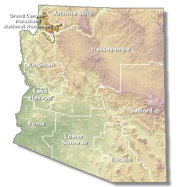 Map indicates Grand Canyon - Parashant National Monument, Arizona Strip, Arizona | Map courtesy of BLM, St. George News
