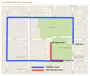 I Am Able and Kid's Run course map | Graphic courtesy of the City of St. George