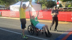 At the finish line of the I Am Able run, St. George, Utah, Oct. 3, 2014   Photo by Mori Kessler, St. George News