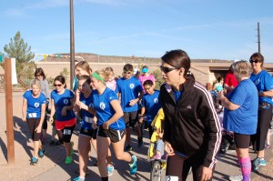"Families gather at confluence park to participate in the ""Breast Run Ever"" 5k run and walk to support breastfeeding mothers, St. George, Utah, Oct. 11, 2014 