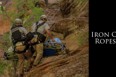 Iron County Ropes Team apprehend a boy out of Kannaraville Canyon, Kannaraville, Utah, May 2013 |Photo courtesy of Mike Gibbs, for St. George News
