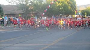 The horde has been released! Kids Run, St. George, Utah, Oct. 3, 2014   Photo by Mori Kessler, St. George News