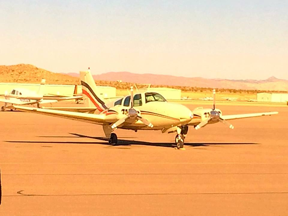 Bill Williams' plane landed safely, after he dealt with landing gear that for a time would not engage on his Beechcraft Baron, St. George Municipal Airport, St. George, Utah, Oct. 20, 2014 | Photo by Kimberly Scott, St. George News