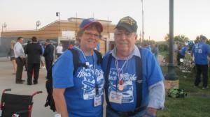 Bobbi Sevy and her father, WWII veteran Bob Covington, St. George, Utah, Oct. 2, 2014   Photo by Mori Kessler, St. George News