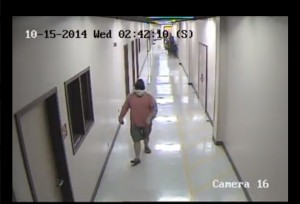 Screenshot from a surveillance video capturing a suspect involved in a burglary at the Dixie Center, St. George, Utah, Oct. 15, 2014 | Image courtesy of St. George Police Department, St. George News