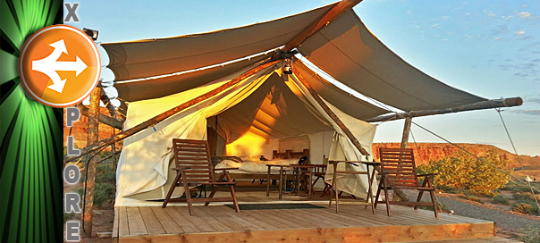A  deluxe  tent at Moabu0027s  gl&ing  resort Moab Under Canvas Moab Utah Sept. 15 2014 | Photo by Drew Allred St. George News & Explore: Moabu0027s glamping resort; the fancy form of roughinu0027 it ...
