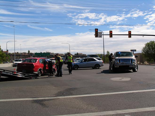 The aftermath of the collision that occurred at the intersection of 1000 East and St. George Boulevard in St. George, Utah, Oct. 8, 2014   Photo by Carin Batcho-Miller, St. George News