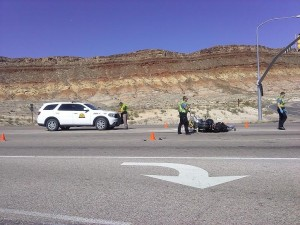Utah Highway Patrol, Hurricane Police and Hurricane Fire Department respond to the accident that occurred at the intersection of 5300 West and State Street in Hurricane, Utah, Oct. 15, 2014   Photo by Aspen Stoddard, St. George News
