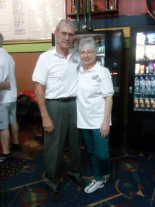 Ray Malinski, 83, stands with Sue Brooks, 68, at the Huntsman World Senior Games held at Sunset West Bowling Center, 1476 W. Sunset Blvd. in St. George, Utah, Oct. 15, 2014 | Photo by Aspen Stoddard, St. George News