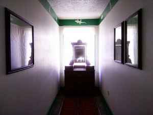 Peering down the hallway at the Overland Hotel & Saloon, 662 Main Street in Pioche, Nevada, Oct. 29, 2014   Photo by Aspen Stoddard, St. George News