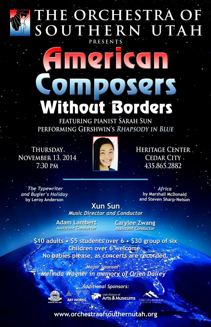 American Composers Without Borders - concert poster | Image courtesy of Orchestra of Southern Utah Facebook, St. George News