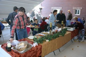 Hundreds gather at a public feast at America's Most Wanted Bed & Breakfast, Hildale, Utah, Nov. 29, 2014 | Photo by Cami Cox Jim, St. George News